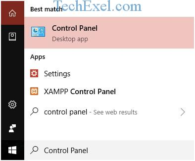 Start - Control Panel - Ethernet Doesn't Have a Valid IP Configuration