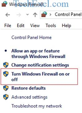 Turn Off Windows Firewall - Ethernet Doesn't Have a Valid IP Configuration