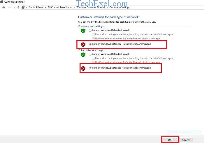 Turn Windows Firewall to Off - How To Fix Widevine Content Decryption Module
