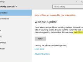 Windows 10 Update Error Code 0x8024a105