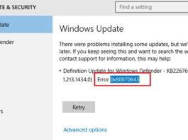 0x80070643 Error in Windows 10 While Updating