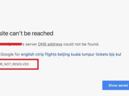 ERR_NAME_NOT_RESOLVED on Google Chrome