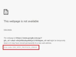ERR_SPDY_PROTOCOL_ERROR in Google Chrome