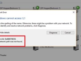 Error 0x80070035 - The Network Path Was Not Found