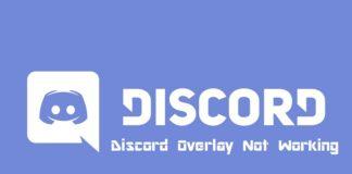Discord Overlay Not Working
