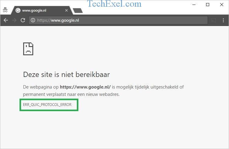 How to Fix ERR_QUIC_PROTOCOL_ERROR in Chrome