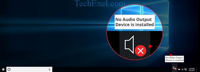 How to Fix No Audio Output Device is Installed Error in Windows 10