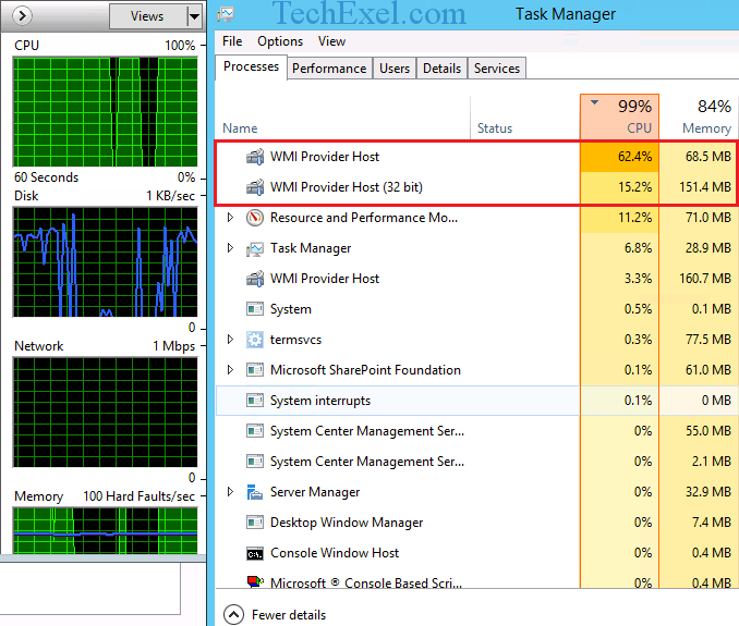 WMI Provider Host (WmiPrvSE.exe) High CPU Usage