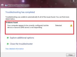 DNS Server Not Responding on Windows 10