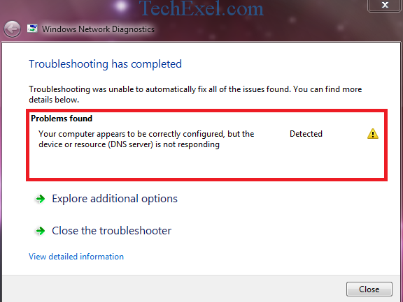 DNS Server Not Responding on Windows 10