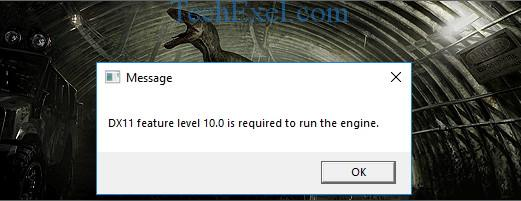DX11 Feature Level 10.0 is Required to Run the Engine