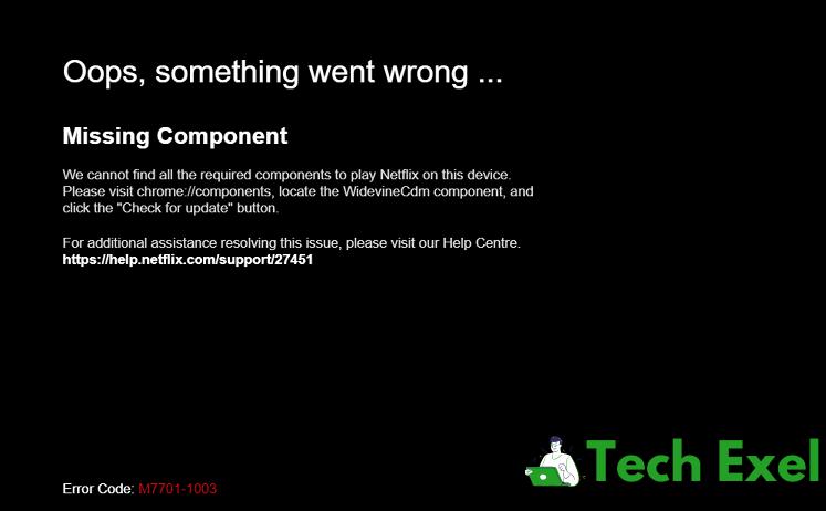 Netflix Error Code M7703-1003