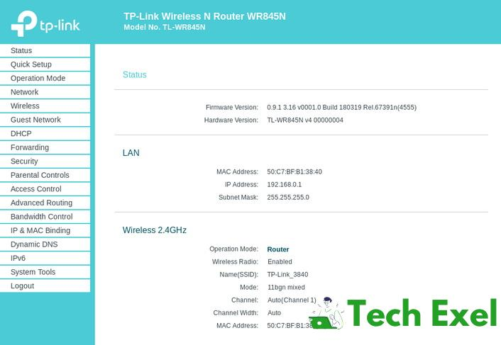 192.168.0.254 IP Admin Page