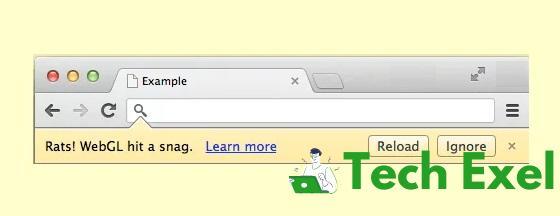 Rats! WebGL Hit a Snag Error in Chrome
