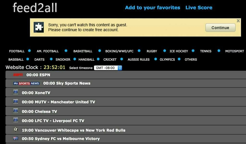 Sites Like Feed2All to Stream Sports