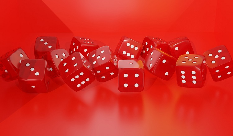 Red Dice Play Gambling Win Poker Luck Roll